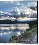Sunset Over Barker Lake Canvas Print