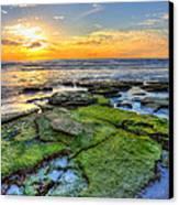 Sunset Siesta Key Rocks Canvas Print by Jenny Ellen Photography