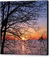 Sunset Silhouette 1 Canvas Print
