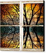Sunset Tree Silhouette Abstract Picture Window View Canvas Print by James BO  Insogna