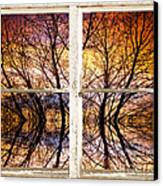 Sunset Tree Silhouette Colorful Abstract Picture Window View Canvas Print by James BO  Insogna