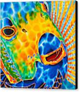 Sunshine Angelfish Canvas Print by Daniel Jean-Baptiste