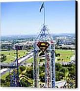 Superman And Dallas Canvas Print by Malania Hammer