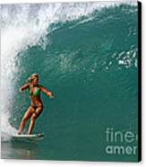 Surfer Girl Canvas Print by Paul Topp
