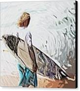 Surfer Canvas Print by Tilly Williams