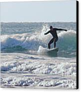 Surfing The Atlantic Canvas Print by Brian Roscorla