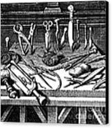 Surgical Equipment, 16th Century Canvas Print