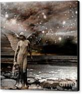 Surreal Fantasy Celestial Angel With Stars Canvas Print
