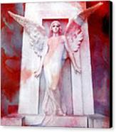 Surreal Impressionistic Red White Angel Art  Canvas Print by Kathy Fornal