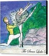 Swan Lake Ballet Canvas Print by Marie Loh