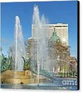 Swann Fountain At Logan's Circle Canvas Print
