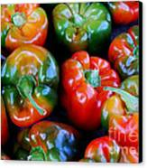 Sweet Peppers Canvas Print by Guy Harnett