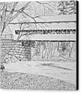 Swift River Bridge Canvas Print by Tim Murray