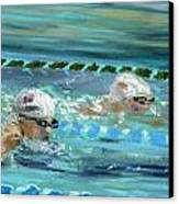 Swimmers Canvas Print by Paul Mitchell