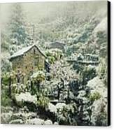 Switzerland In Winter Canvas Print by Joana Kruse