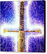 Sword With Sparks Canvas Print