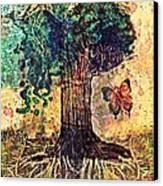 Symbolically Solid Tree Canvas Print by Paulo Zerbato