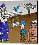 Syria Is Mordor Canvas Print