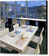 Table At An Upscale Cafe With A View Canvas Print