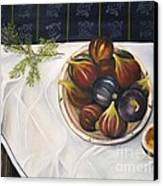 Table With Figs Canvas Print by Carol Sweetwood