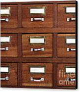 Tagged Drawers Canvas Print