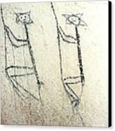 Taino Rock Climbers Canvas Print by Ramon A Chalas-Soto