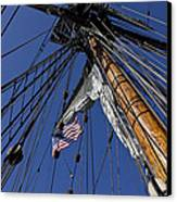 Tall Ship Rigging Canvas Print by Garry Gay