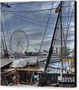 Tall Ships At Navy Pier Canvas Print by David Bearden