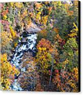 Tallulah River Gorge Canvas Print by Susan Leggett