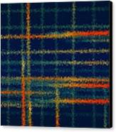 Tangerine Plaid Canvas Print by Bonnie Bruno