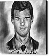 Taylor Lautner Sharp Canvas Print by Kenal Louis