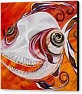 T.b. Chupacabra Fish Canvas Print by J Vincent Scarpace