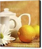 Tea And Lemon Canvas Print