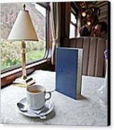 Tea Is Served By Peru Rail On The Way Canvas Print by Michael &Amp Jennifer Lewis