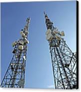 Telecommunications Masts Canvas Print by Carlos Dominguez