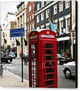 Telephone Box In London Canvas Print by Elena Elisseeva