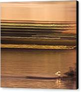 Tempe Town Lake Rowers Abstract Canvas Print