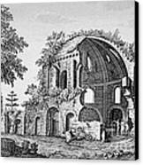 Tempio Di Minerva Medica In Roma, 18th Canvas Print by Photo Researchers