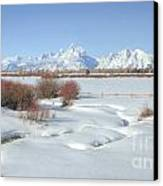 Teton Snow Canvas Print by Idaho Scenic Images Linda Lantzy