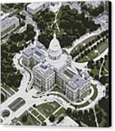 Texas Capitol Color 6 Canvas Print by Scott Kelley