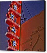 Texas Theater Restored Canvas Print by Gib Martinez