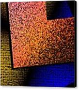 Textured Abstract Geometry Canvas Print by Mario Perez