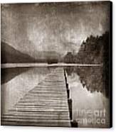 Textured Lake Canvas Print by Bernard Jaubert
