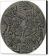 Tezcatlipoca And Huitzilopochtli Canvas Print by Photo Researchers