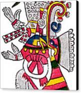 Tezcatlipoca, Aztec God Of Night, Codex Canvas Print by Photo Researchers