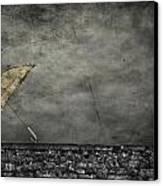Th E Red Umbrella Canvas Print by Empty Wall