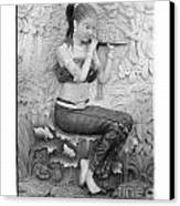 Thai Style Bas-relief Decorated On  Wall  Canvas Print