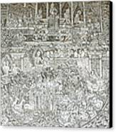Thai Writing Patterns Canvas Print by Kanoksak Detboon
