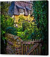 Thatched Roof Country Home Canvas Print