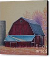 The 1918 Barn Canvas Print by Elizabeth Dobbs